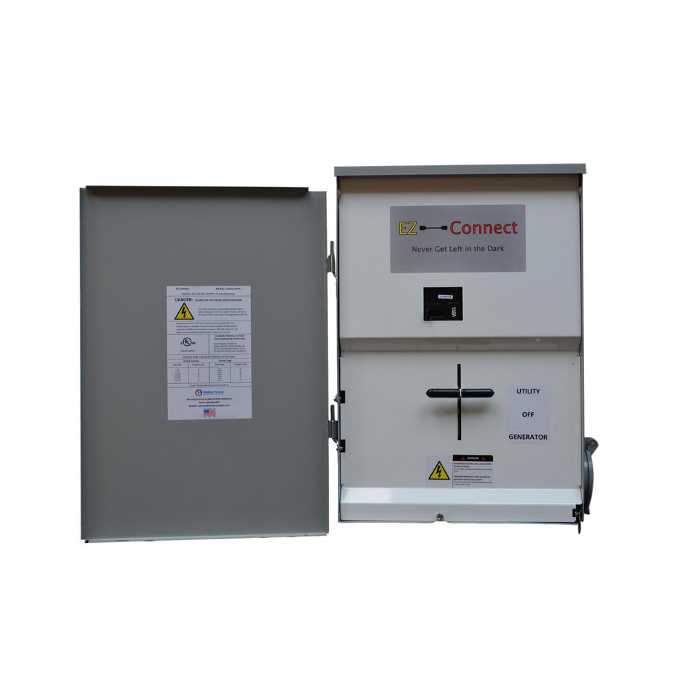100 amp generator manual transfer switch