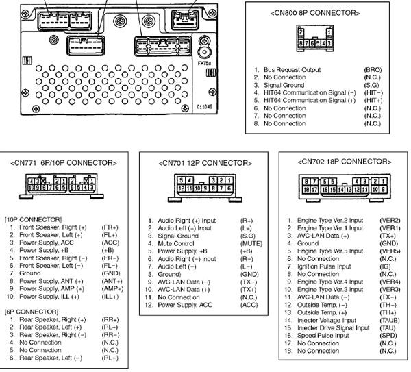 manual toyota head unit pzq60-00532