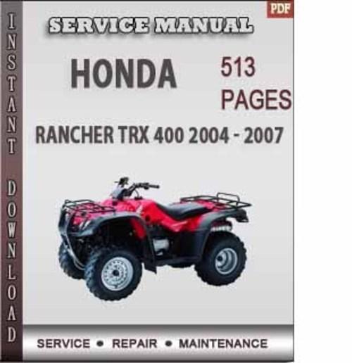 2004 honda foreman 450 service manual pdf