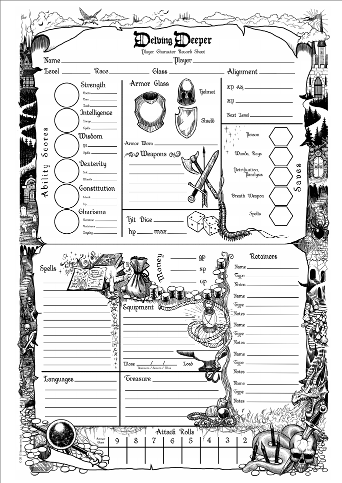 Dnd 5e player sheet pdf
