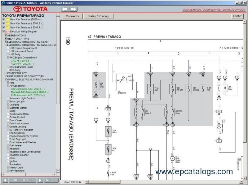 Toyota tarago workshop manual free download