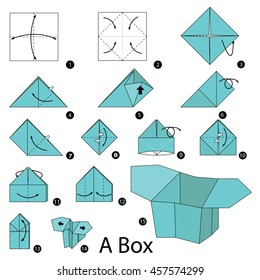 origami box instructions with pictures