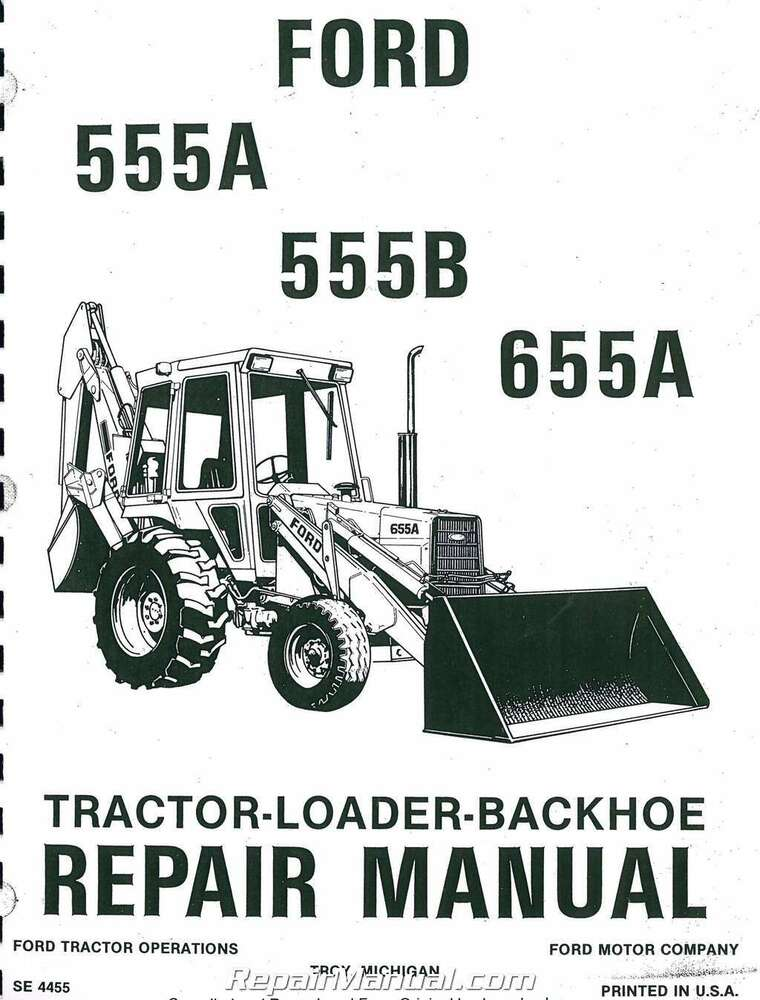 ford 555 backhoe service manual download