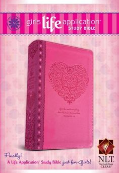 Girls life application study bible butterfly
