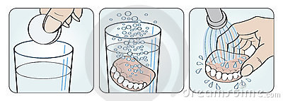 partial denture cleaning instructions