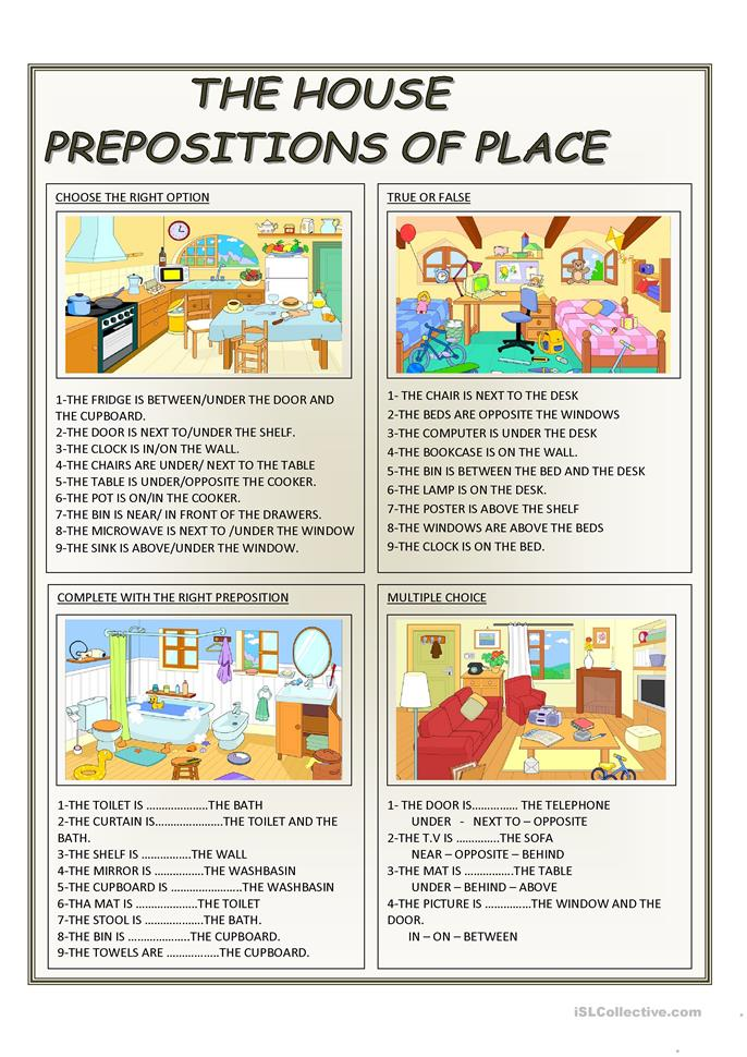 Prepositions of time place and direction exercises pdf