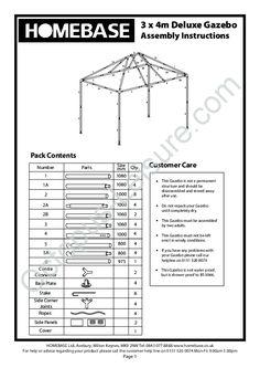 homebase party gazebo instructions