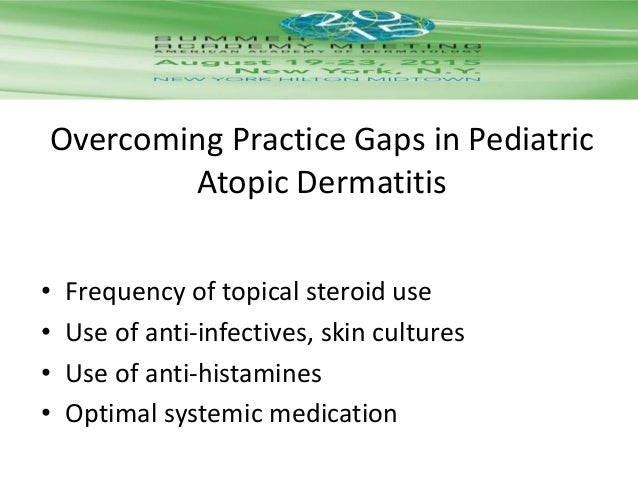 American academy of dermatology guideline atopic dermatitis