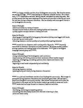 Esl report card comments pdf