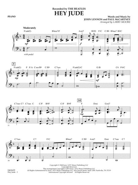 Hey jude easy piano sheet music pdf