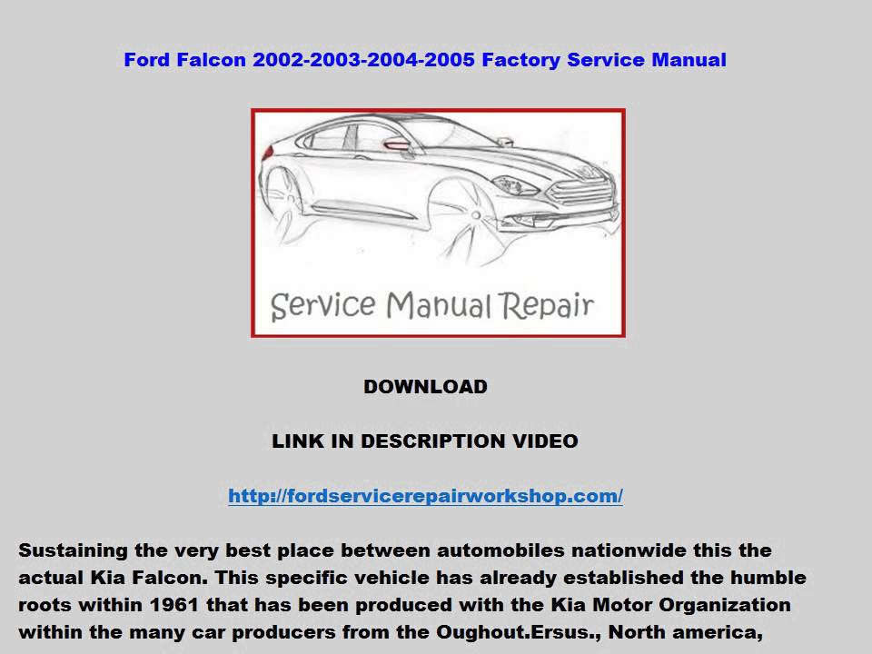 Ford territory workshop manual download