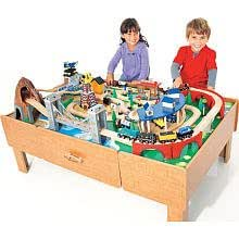 imaginarium classic train table with roundhouse assembly instructions