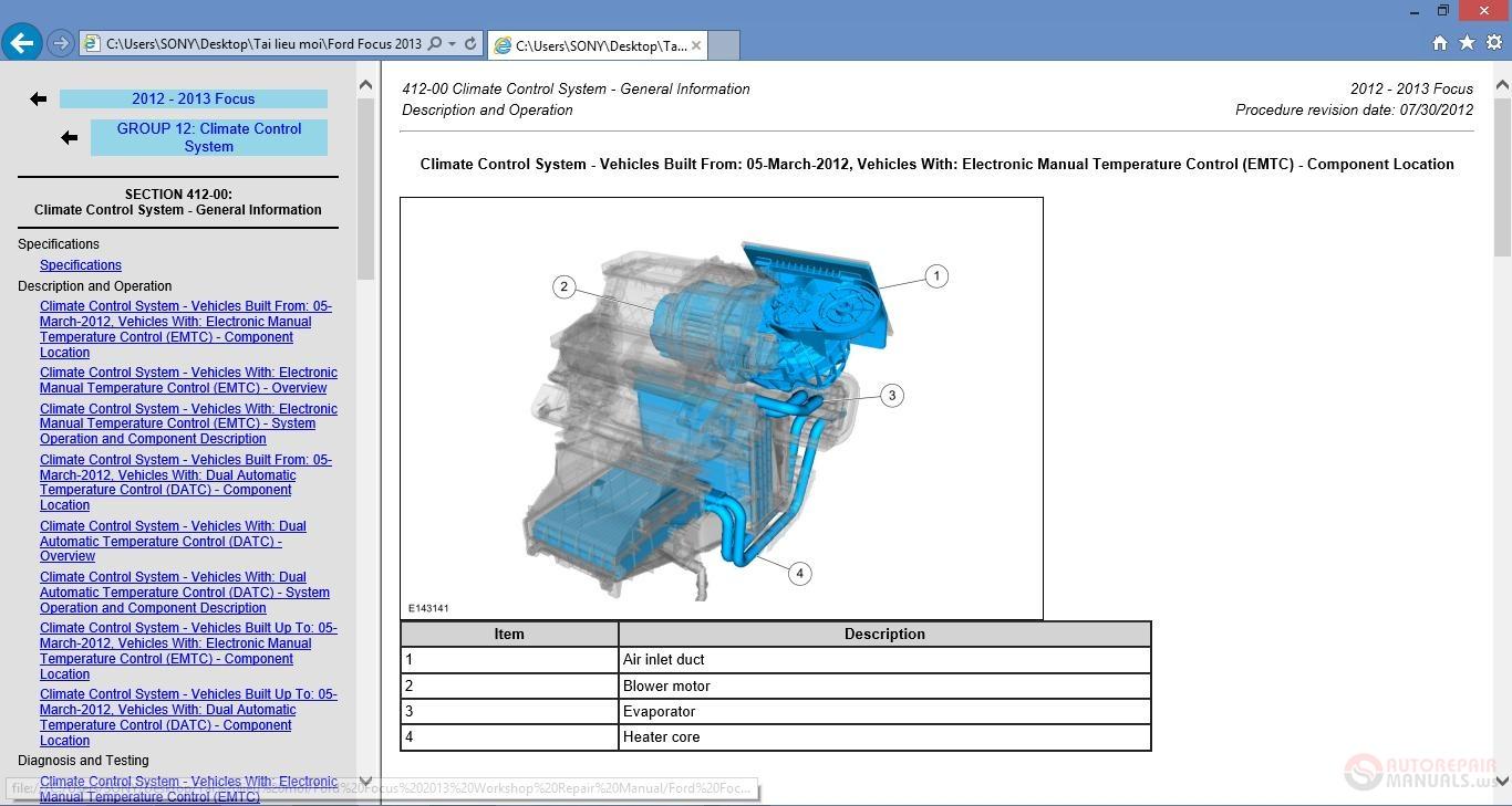 Ford econovan service manual pdf
