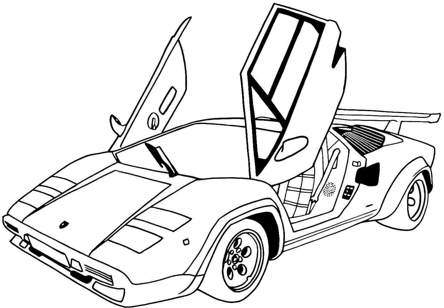 Sports cars coloring pages pdf
