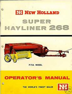 New holland 268 baler manual