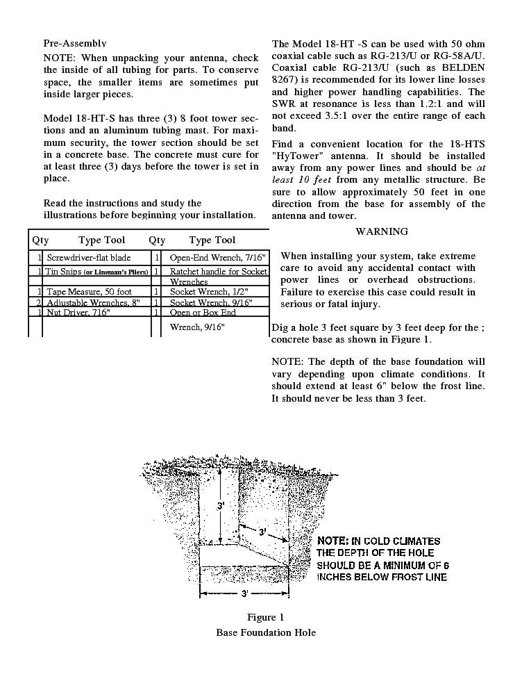 hy-gain av-18ht manual