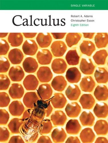 Adams essex calculus solution manual