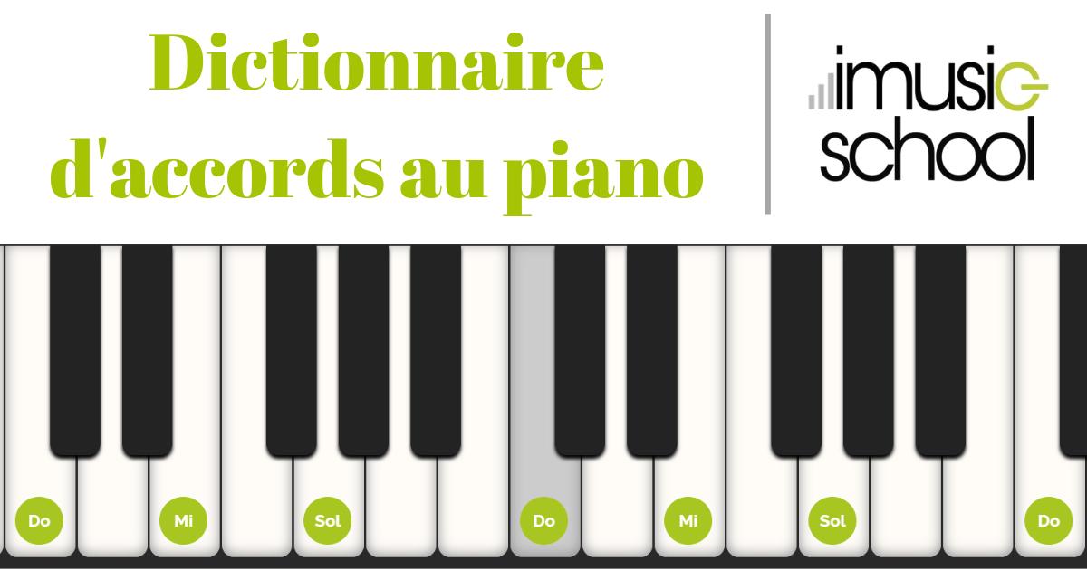 Tableau des accords pour piano pdf