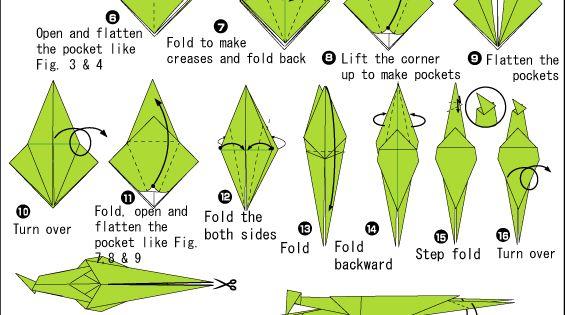 Origami praying mantis instructions