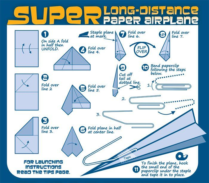 instructions on how to make a paper aeroplane
