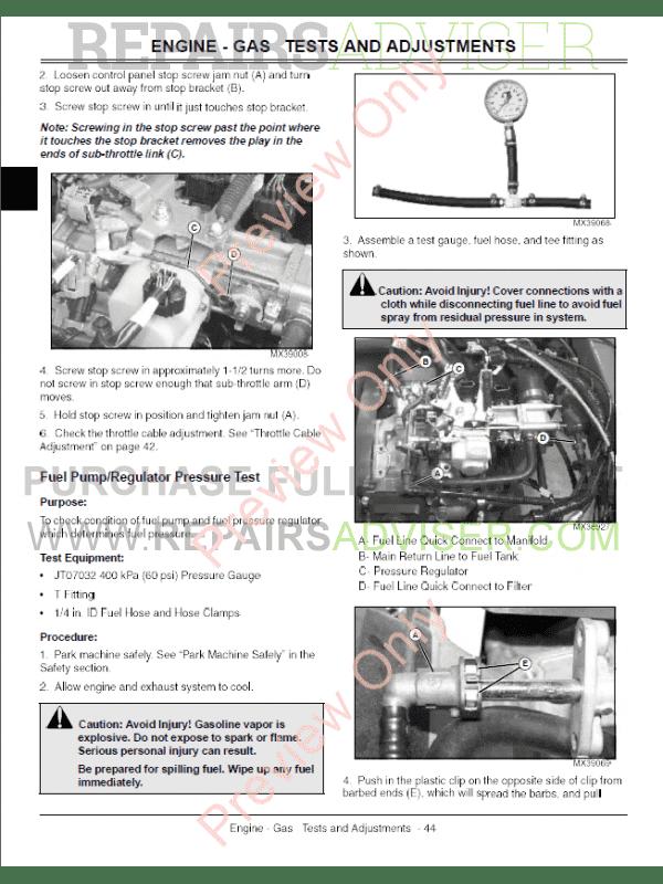 John deere gator 620i service manual