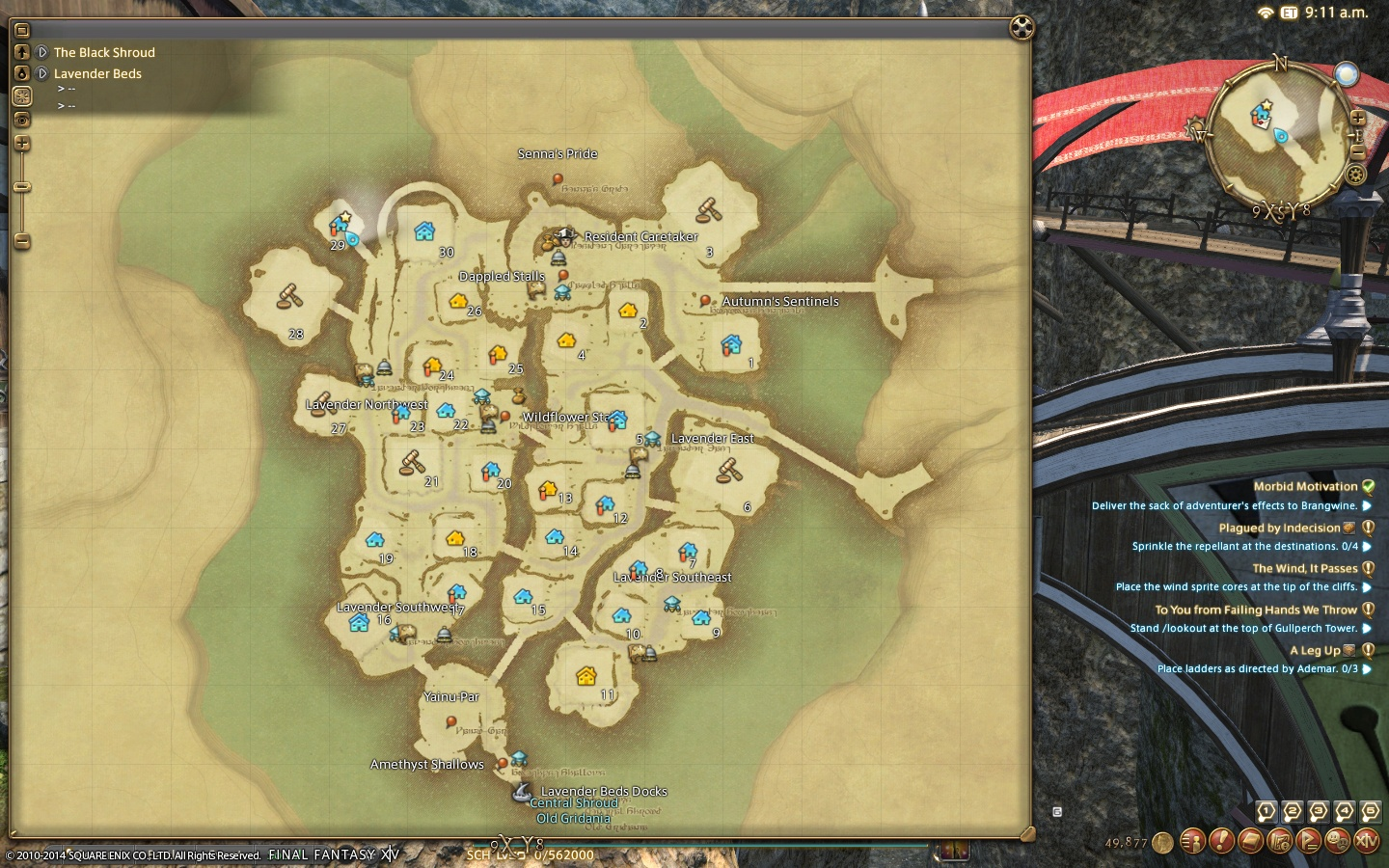 Ff14 how to get to other wards in the goblet