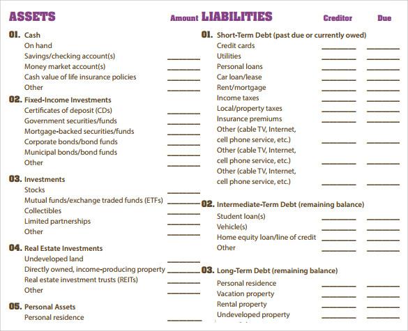 Elements of balance sheet pdf