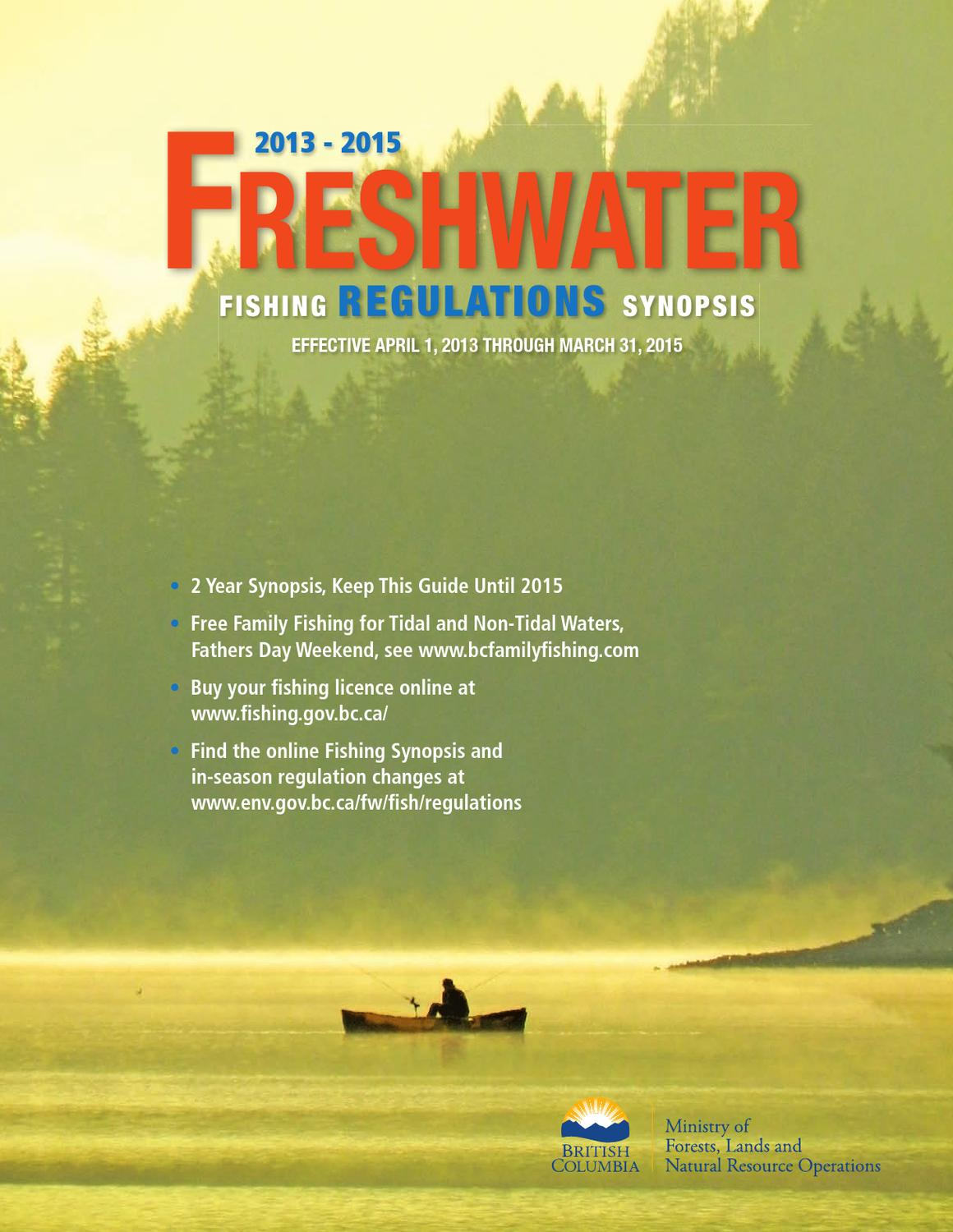 Bc freshwater fishing guide license