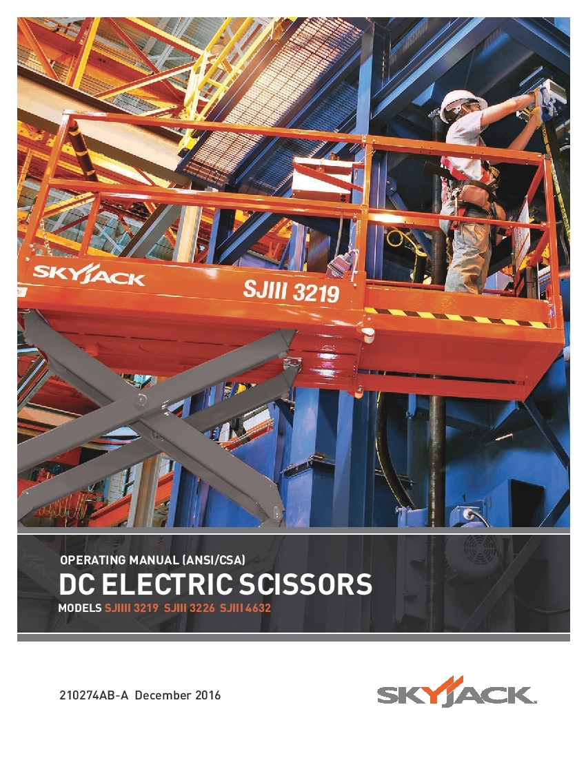 skyjack sjiii 3219 operators manual