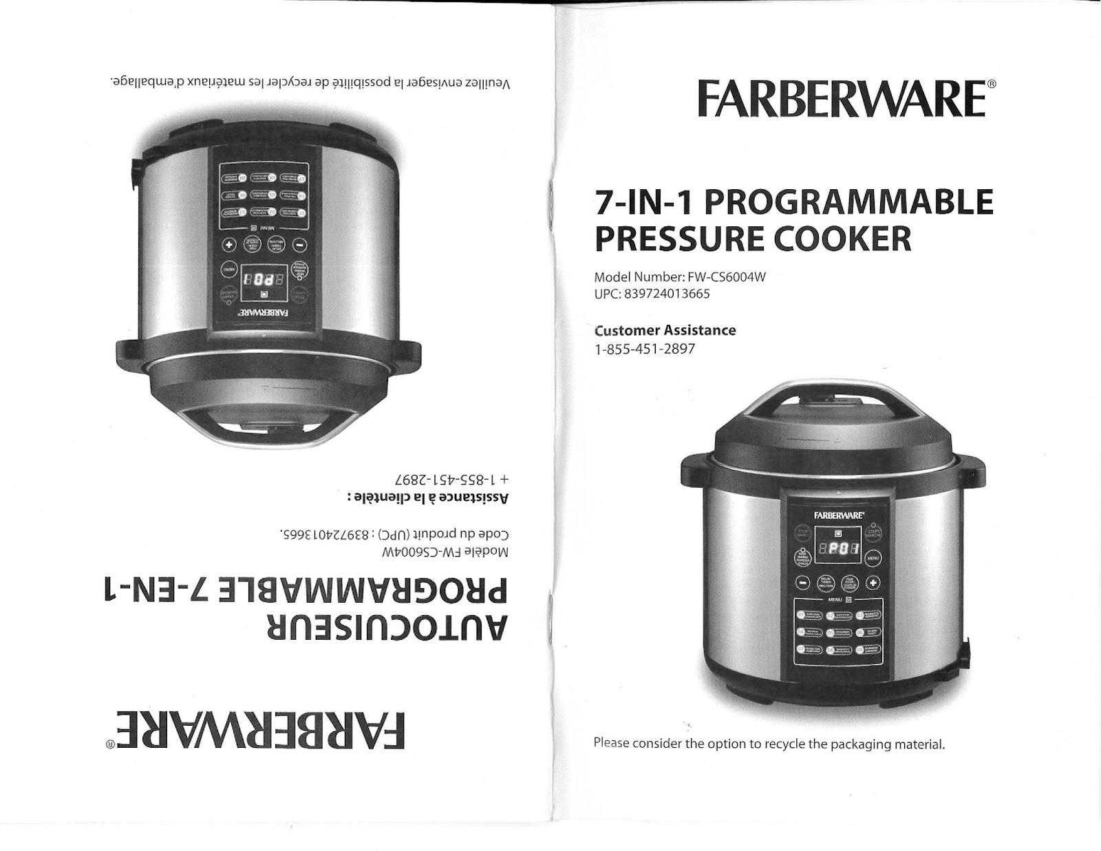 bfriffile presure cooker user manual