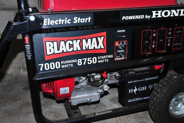 black max 7000 watt generator manual
