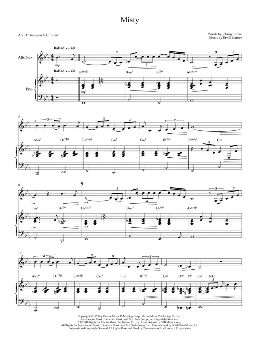 Misty piano sheet music pdf