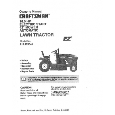 craftsman c944 16 electric manual