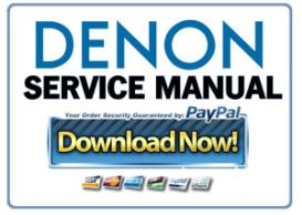 denon avr 3802 service manual