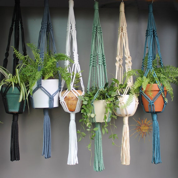 Easy macrame plant hanger instructions