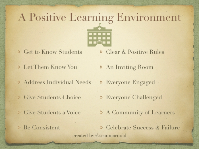Example of a postive learning encounter