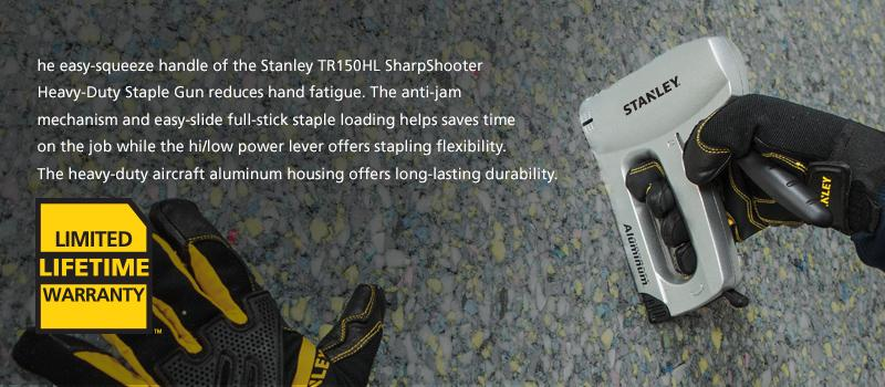 Stanley aircraft aluminum staple gun manual