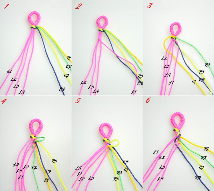 friendship bracelet instructions with 3 strings