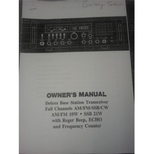 galaxy saturn turbo owners manual