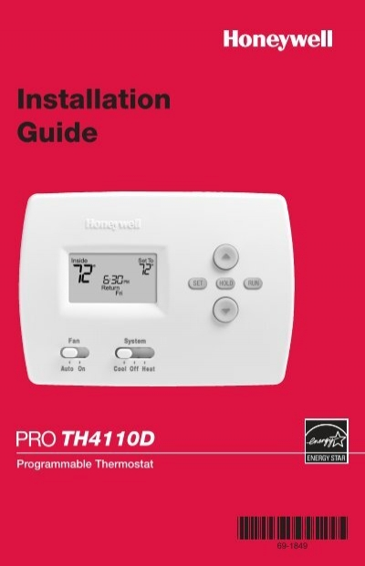 honeywell thermostat yrlv430a1014 owners manual