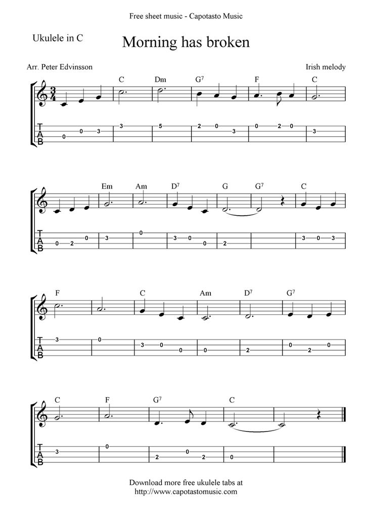 instructions and sheet music for ukulele