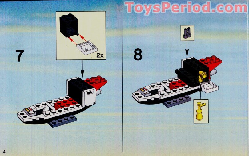 Lego fire rescue helicopter instructions