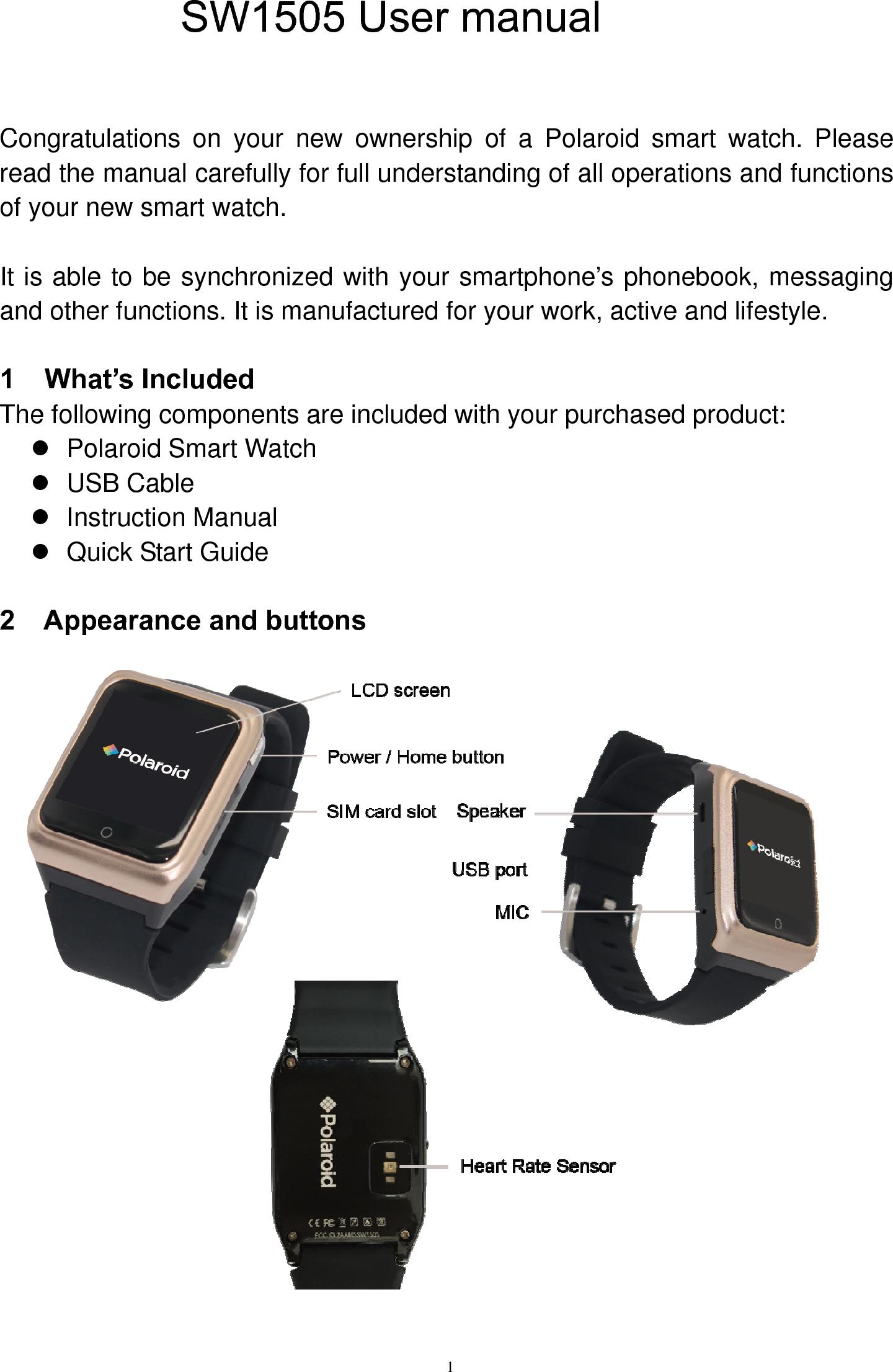 manual for xiaoou smart watch
