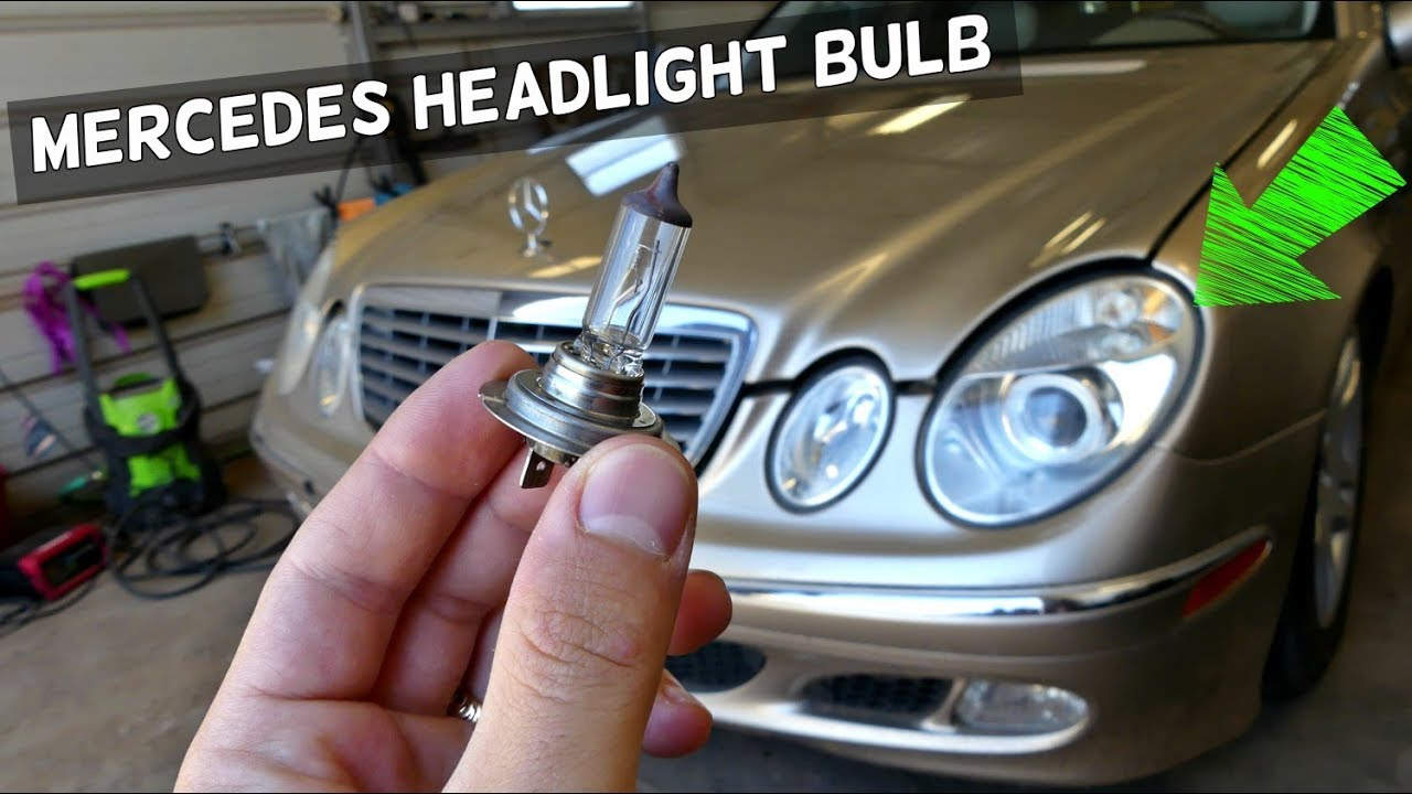 mercedes benz headlight bulb replacement instructions