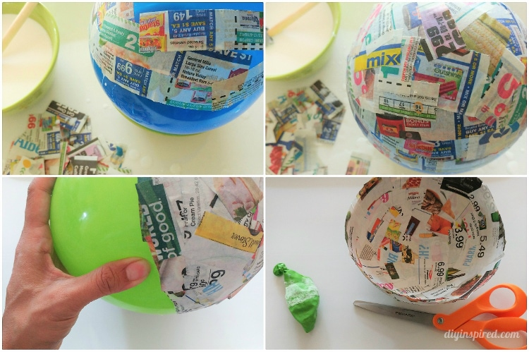 paper mache instructions glue
