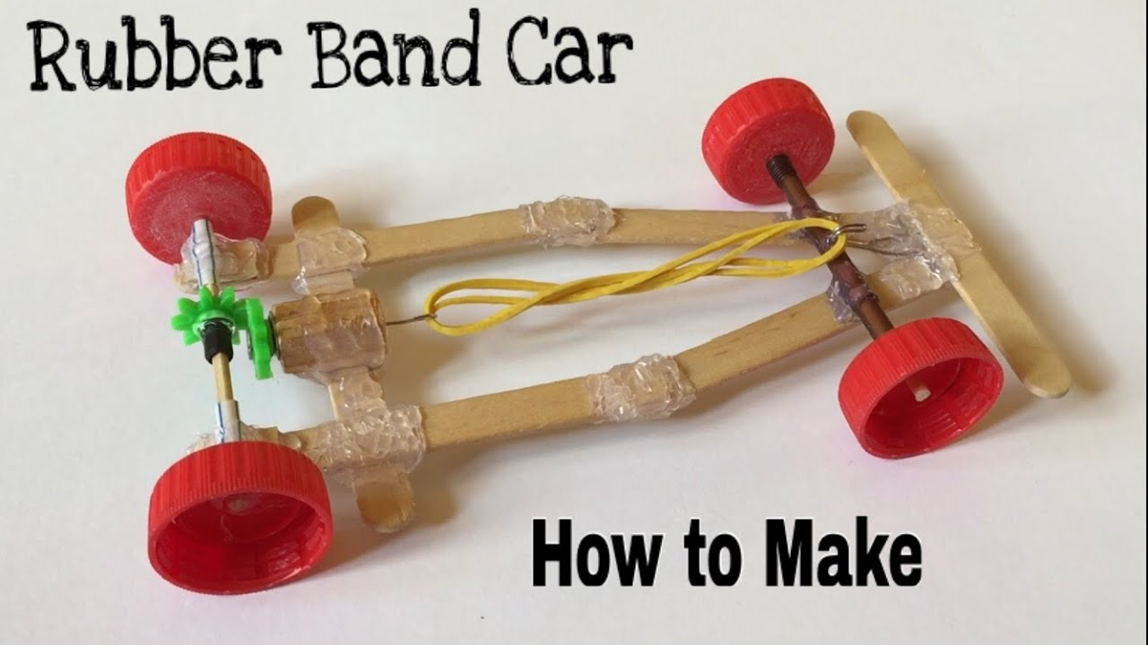 rubber band race car instructions