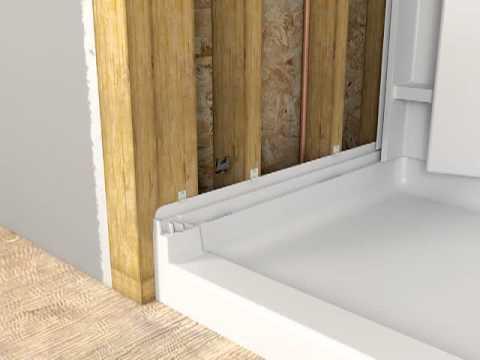 sterling shower base installation instructions
