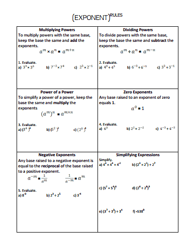 Teh product rule of exponents grade 7 filetype pdf