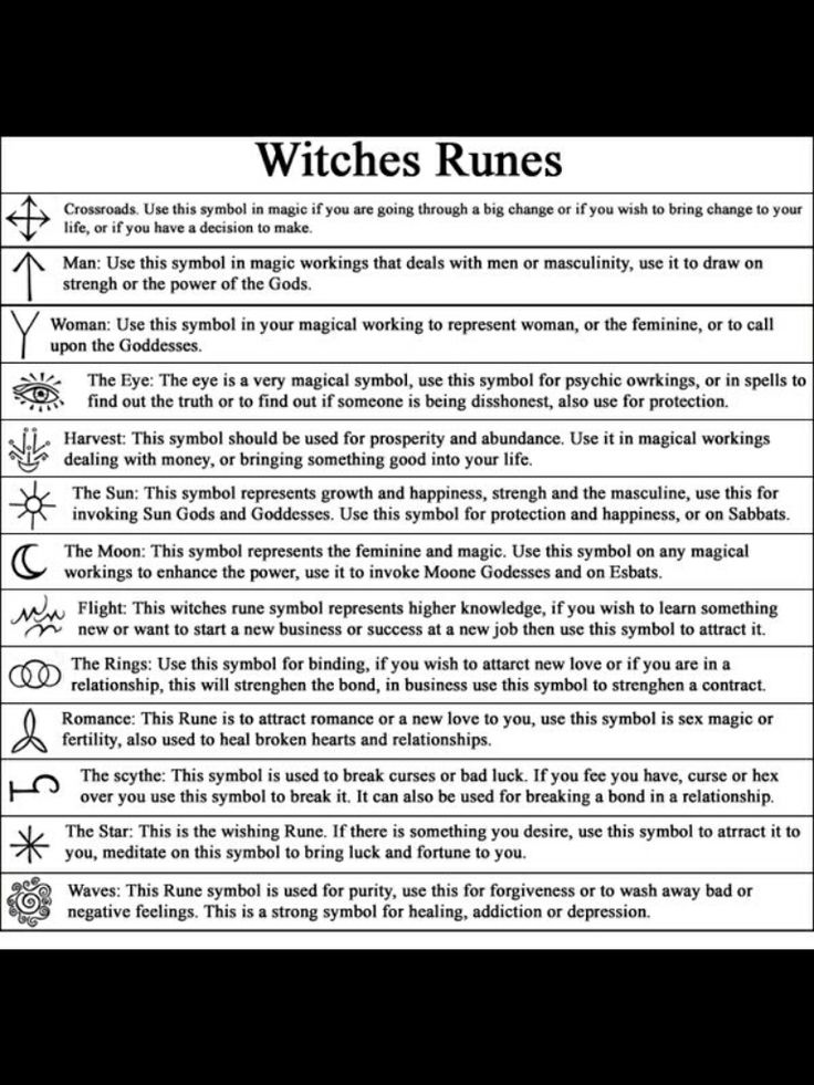 Witches runes and their meanings pdf